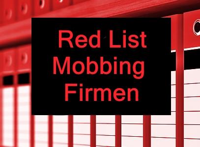 Umfrage Red List MobbingFirmen