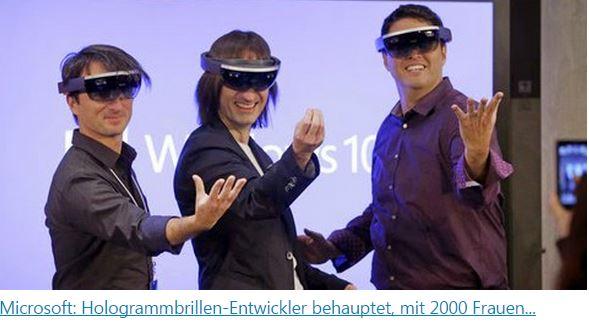 Microsoft Hologrammbrillen-Entwickler behauptet, mit 2000 Frauen geschlafen zuhaben