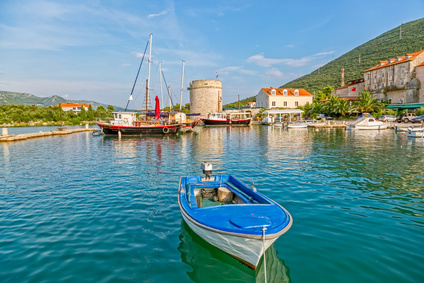 Mali Ston harbor on Peljesac peninsula