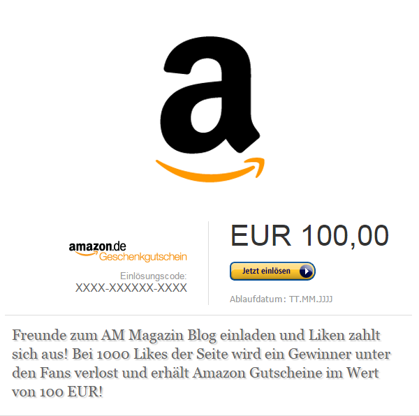 Gewinne 100 EUR AmazonGutscheine!