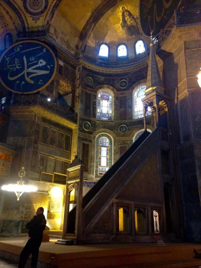 Innen in der Hadgia Sofia