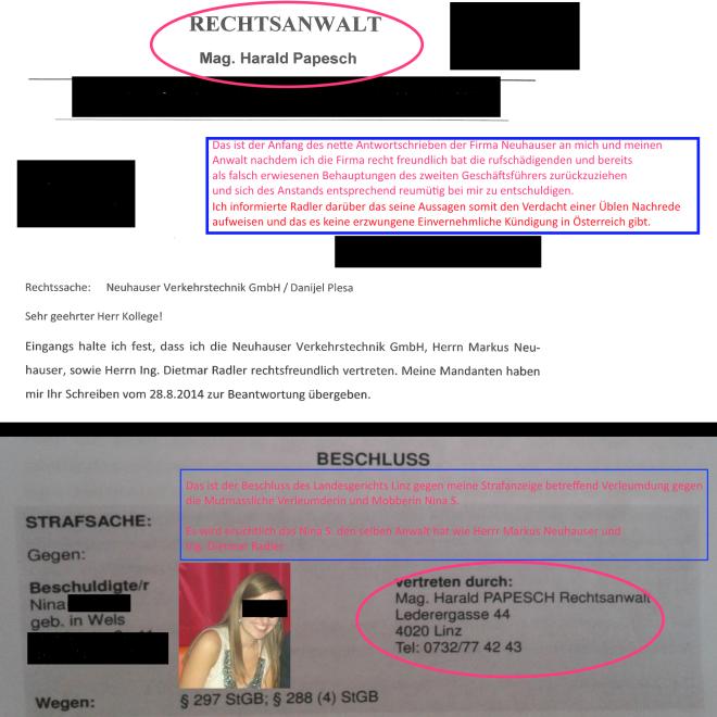 Neuhauser Verkehrstechnik - Anwalt der mutmasslichen Verleumderin Nina S.